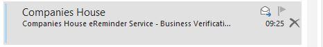 Nadawcą wiadomości jest rzekomo Companies House, ale email wysyłany jest z innego adresu.