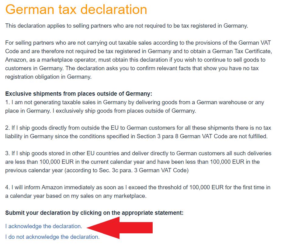 VAT Niemcy Deklaracja