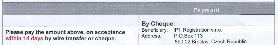 SCAM patentowy terminy płatności